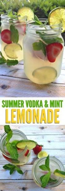 wedding photo - Refreshing Summer Vodka Mint Lemonade Cocktail