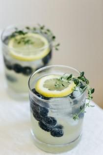 wedding photo - Limoncello Prosecco With Blueberries And Thyme