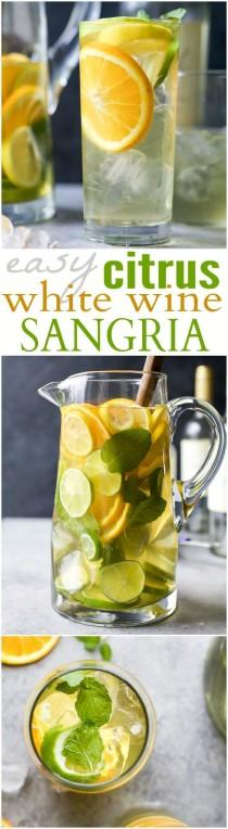 wedding photo - Citrus White Sangria