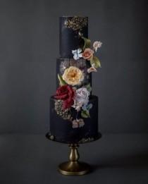 wedding photo - Striking   Extraordinary Moody Wedding CakesYour Online Maid Of HonorSheer Ever After Wedding Blog