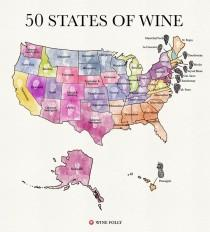 wedding photo - 50 States Of Wine (Map
