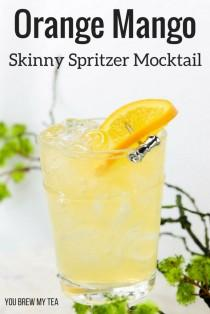 wedding photo - Skinny Orange Mango Spritzer Mocktail