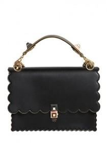 "wedding photo - FENDI, Borsa Media ""kan I"" In Pelle, Nero"
