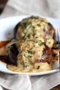wedding photo - Grilled Portobello Mushrooms With Garlic Sauce