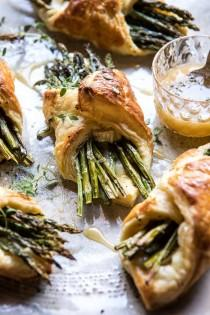 wedding photo - Asparagus And Brie Puff Pastry With Thyme Honey