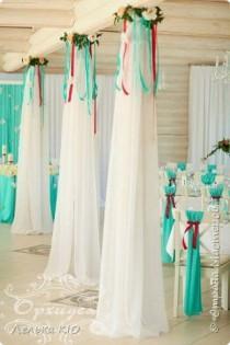 wedding photo - Оформление Тканями И Цветами