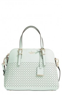 wedding photo - Kate Spade New York 'Milton Lane - Maise' Perforated Leather Satchel