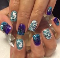 wedding photo - Mermaid Nail Decal
