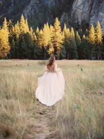 wedding photo - Autumn Bridal Session In Yosemite National Park