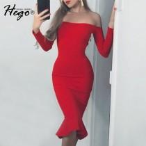 wedding photo - Sexy Vintage Attractive Slimming Mermaid Off-the-Shoulder It Girl Fall Formal Wear Dress - Bonny YZOZO Boutique Store