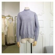 wedding photo - Must-have Oversized High Neck Long Sleeves One Color Summer Basics - Lafannie Fashion Shop