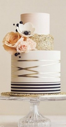 wedding photo - 30 Blush, Navy And Gold Wedding Color Palette Ideas