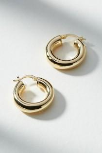 wedding photo - Penelope Hugger Hoop Earrings