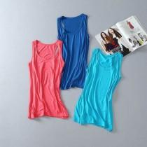 wedding photo - Must-have Vogue Slimming Candy Color Sleeveless Top Strappy Top - Discount Fashion in beenono