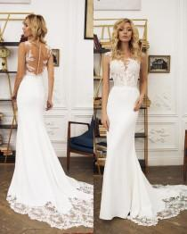 "wedding photo - Mermaid Wedding Dress Illusion Back, Wedding Dress ""Kalipso"""