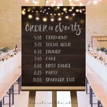 wedding photo - Printable Large Wedding Signs, Rustic Wedding Ideas, Wedding Ceremony Sign, Wedding Day Schedule, Order Of Events Wedding Sign DIGITAL