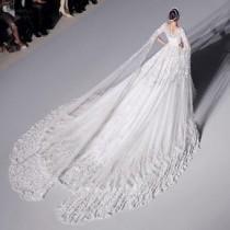 wedding photo - 3M Long Cathedral/Royal Train Wedding Dress