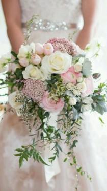 wedding photo - 60  Amazing White And Blush Bouquet For Your Happy Wedding