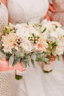 wedding photo - 36 Glamorous Blush Wedding Bouquets That Inspire