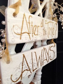 wedding photo - Wedding Quotes : To All The Harry Potter Fans... 2 Sided Wedding Signs, Mr And Mrs On One And The