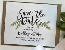 wedding photo - Simple Save the Date Cards, Floral Greenery Save the Date, Best Selling Items