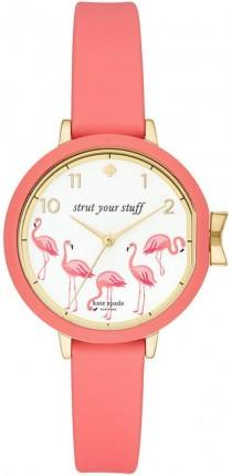 wedding photo - Kate Spade Women's Park Row Pink Silicone Strap Watch 34mm