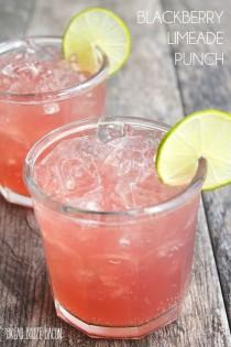 wedding photo - Blackberry Limeade Punch