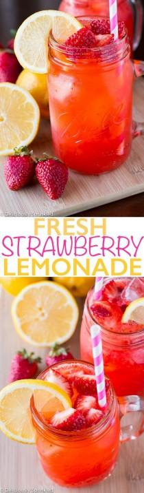 wedding photo - Fresh Strawberry Lemonade