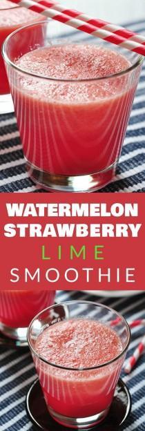 wedding photo - Watermelon Strawberry Lime Smoothie