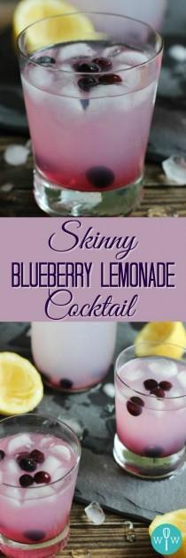 "wedding photo - ""Skinny"" Blueberry Lemonade Cocktail"