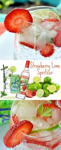 wedding photo - Skinny Strawberry Lime Spritzer