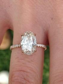 wedding photo - NEW MAYTAL HANNAH ENGANGEMENT RING: OVAL IN ROSE GOLD
