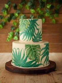 wedding photo - 25 Best Ideas Of Tropical Wedding Cake, So Fresh And Beautiful