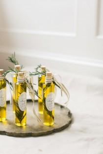 wedding photo - Olive Oil Favors With Avery