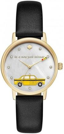 wedding photo - Kate Spade Metro Taxi Cab Analog Leather-Strap Watch