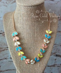 wedding photo - Spring Leaves Statement Necklace