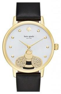 wedding photo - Kate Spade New York 'metro - Bee' Leather Strap Watch, 34mm