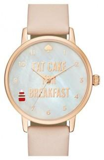 wedding photo - Kate Spade New York 'metro - Eat Cake' Leather Strap Watch, 34mm Available At #Nordstrom