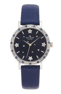 wedding photo - Kate Spade New York 'metro' Crystal Bezel Leather Strap Watch, 34mm Available At #Nordstrom