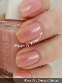wedding photo - Essie My Private Cabana. This Is The Perfect Color. Light, Clear W/ Just A Dab Of Pink