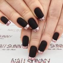 wedding photo - 50 Dramatic Black Acrylic Nail Designs To Keep Your Style On Point