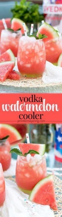 wedding photo - (msg For 21 ) Vodka Watermelon Cooler - JenniferMeyering.com #CelebrateTheSummer #ad