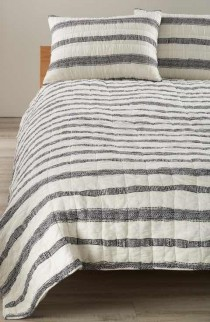 wedding photo - Levtex Tali Geo Stripe Quilt