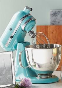 wedding photo - Turqouise KitchenAid Mixer? YES, Please!