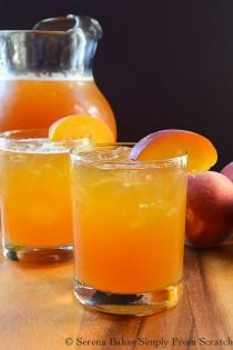 wedding photo - Peach Whiskey Iced Tea Is The Perfect Summer Time Cocktail At The End Of A Hot Summer's Day!