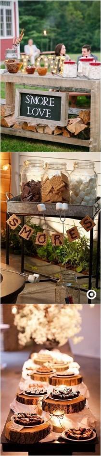 wedding photo - Rustic Whimsical Outdoor Wedding S'mores Bar Ideas_