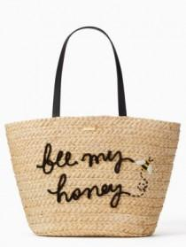 wedding photo - Kate Spade Picnic Perfect Straw Bee Tote