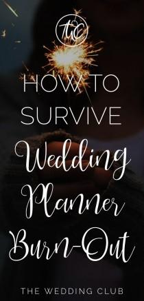 wedding photo - How To Survive Wedding Planner Burn-out