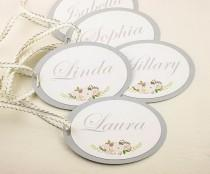 wedding photo - SET Of Will You Be My Bridesmaid Tag Grey Customizable Gift Tags Maid Of Honor Gift Tags