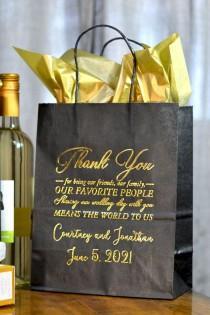 wedding photo - 8 X 10 Custom Printed Kraft Paper Gift Bags (Set Of 25)